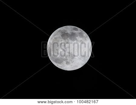Moon near to its full size of 99.5% as seen from Bangalore, India on August 29th 2015