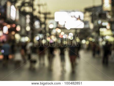 Crowd Of People In Bang La Road, Phuket, Thailand