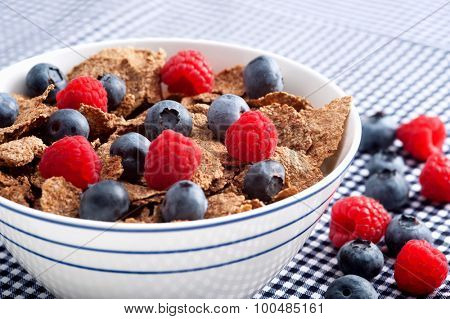 Start the day with a nutritious and delicious bowl of cereal with fresh fruit filled with vitamins and antioxidants