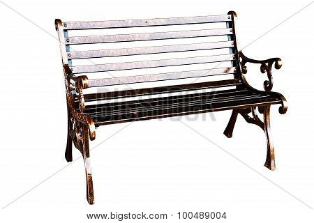 Alloy Chair On White Background