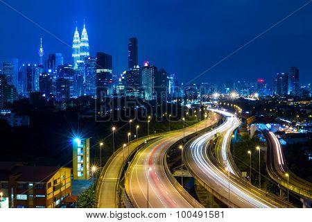 Kuala Lumpur cityscape at night