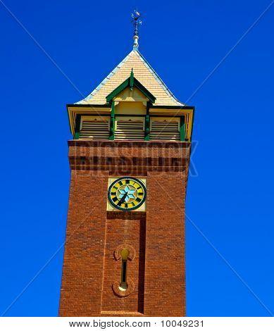 Clocktower against a Clear Blue Sky