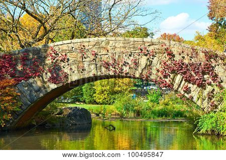 New York City Central Park in autumn day