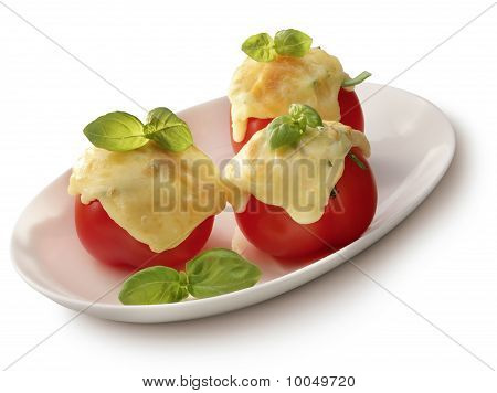 Tomato Gratin On A Plate