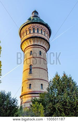 Water Tower In Wiesbaden Biebrich