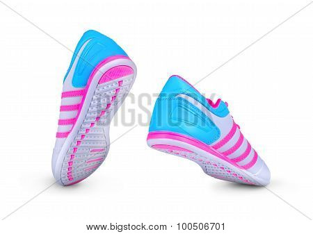New Unbranded Running Shoe, Sneaker Or Trainer On White Background
