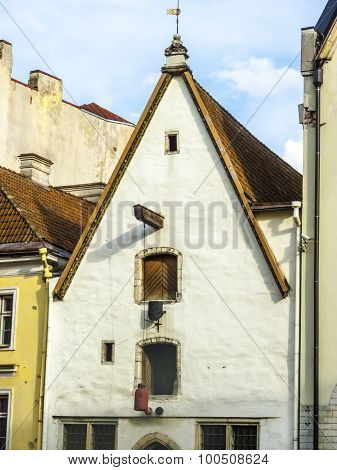 Facade Of Old Merchants House In Old Town In Tallinn