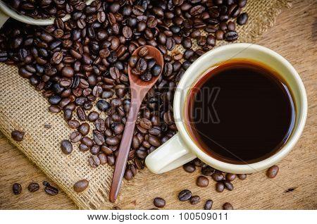 Americano And Roast Coffee Beans