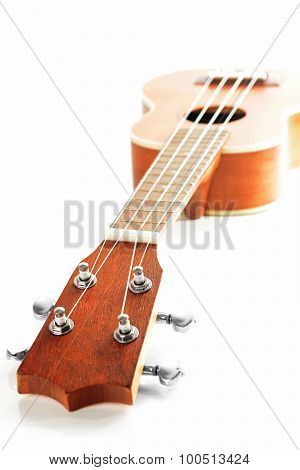 High-key picture of ukulele