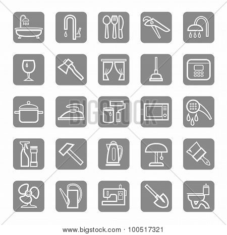 Icons, Household Goods, Appli...