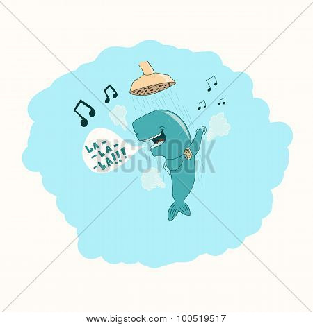 Whale in the shower