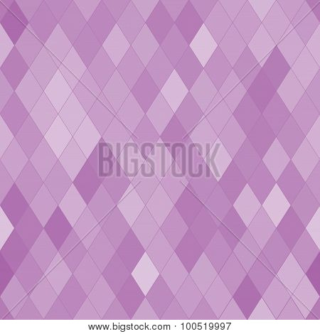 Vector Seamless Pattern With Rhombs. Abstract Purple Texture. Geometrical Background.