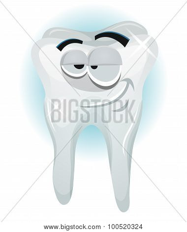 Happy Tooth Character Smiling