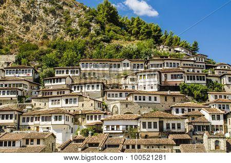 View at old city of Berat in Albania