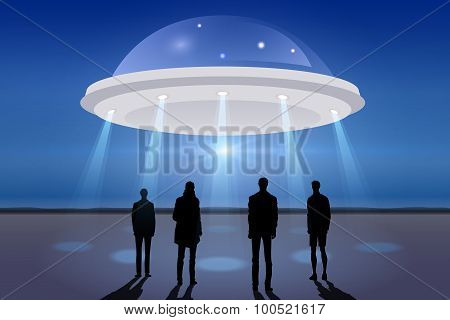 Ufo Spacecraft In The Sky