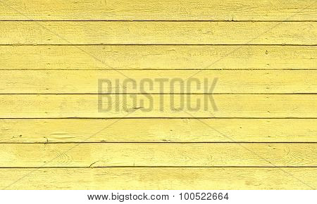 Yellow Painted Wood Planks