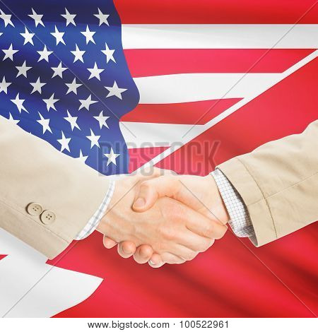 Businessmen Handshake - United States And Bahrain