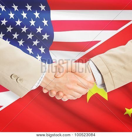 Businessmen Handshake - United States And China