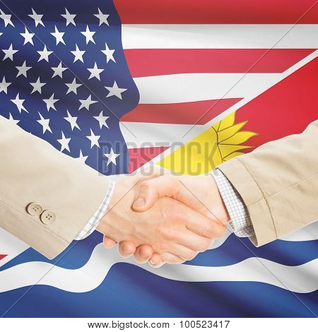 Businessmen Handshake - United States And Kiribati