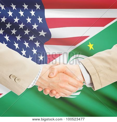 Businessmen Handshake - United States And Macau