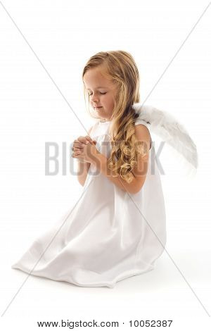 Little Angel Girl Praying