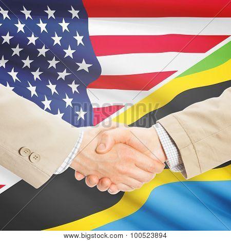 Businessmen Handshake - United States And Tanzania