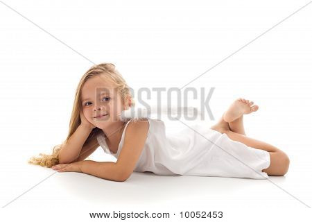 Little Angel In White Dress