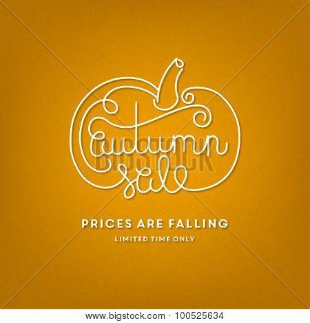 Autumn sale illustration