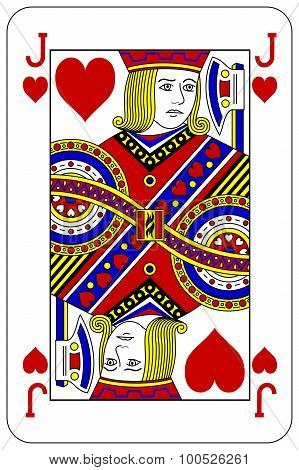 Poker Playing Card Jack Heart