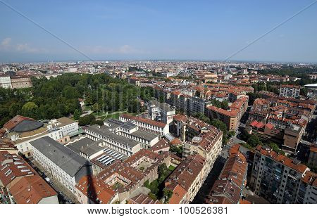 Top View Of A European Metropolis