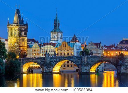 Prague,  Czech Republic at night