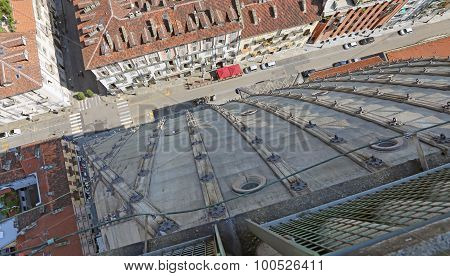 Bird's-eye View Of Turin From The Highest Building In The City Called Mole Antonelliana