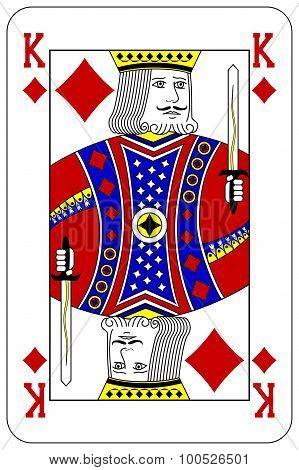 Poker Playing Card King Diamond