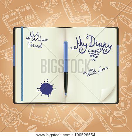 Diary Sketch Concept