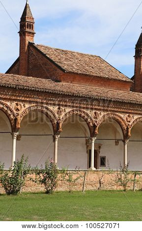 Cloister Of The Abbey Called Certosa Di Pavia