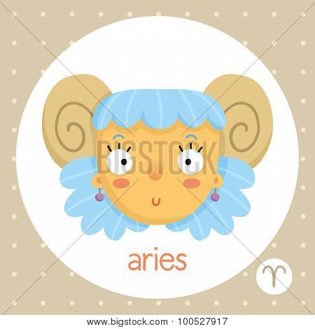Aries Zodiac Sign, Girl With Horns