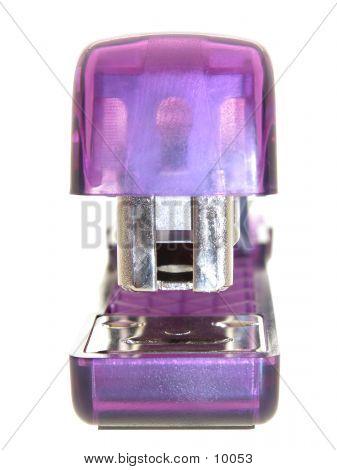 Purple Stapler Isolated Over White