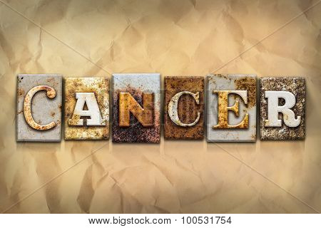 Cancer Concept Rusted Metal Type