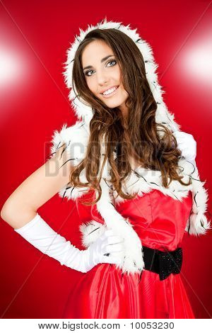 Sexy Girl In Santa Costume