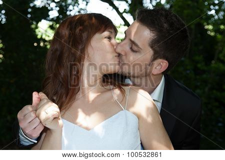 Newly Wedding Couple Happy On Their Wedding Day