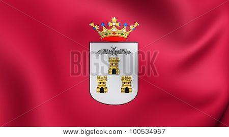 Flag Of Albacete City, Spain.