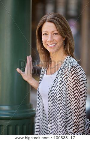 Cute Woman In Urban Scene