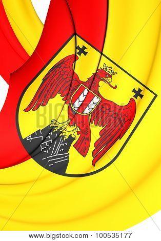 Flag Of Burgenland Land, Austria.