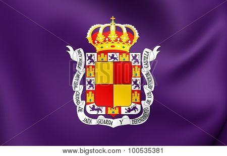 Flag Of Jaen City, Spain.