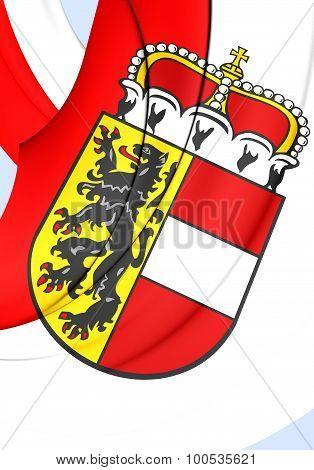 Flag Of Salzburg Land, Austria.