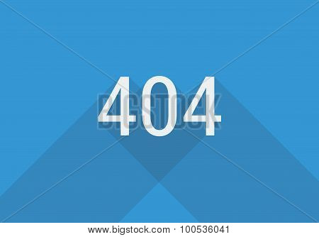 404 page flat style with shadow