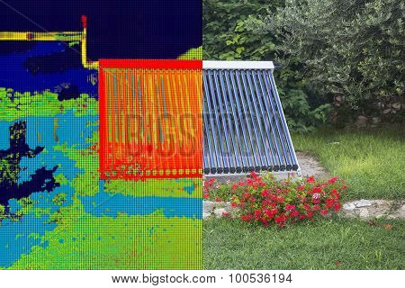 Infrared And Real Image