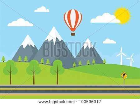 Countryside Road Illustration