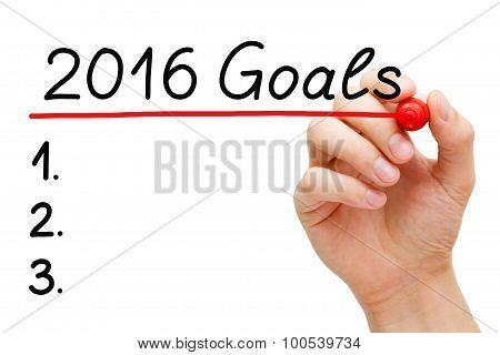 Goals 2016 List