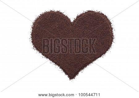 Loose Leaf Tea In A Heart Shape